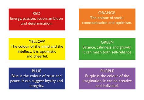 meanings of different colors 100 meanings of different colors what meanings do