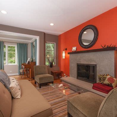 living room with orange accent wall ideas blue walls of living room orange accent design pictures remodel decor