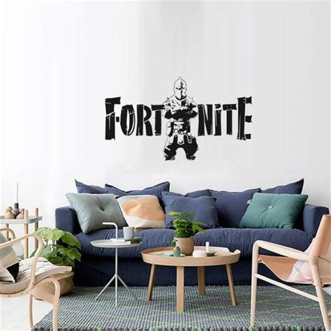 black fortress night fortnite game wall stickers metallic effect view home devor wall decal