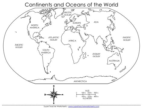 printable quiz continents and oceans continents and oceans quiz worksheet worksheets for all