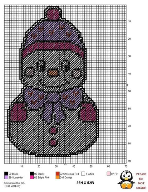 christmas patterns on pinterest girl snowman wh plastic canvas pinterest plastic