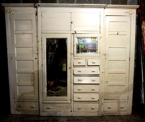 ~ nice antique built in armoire ~ unique closet front