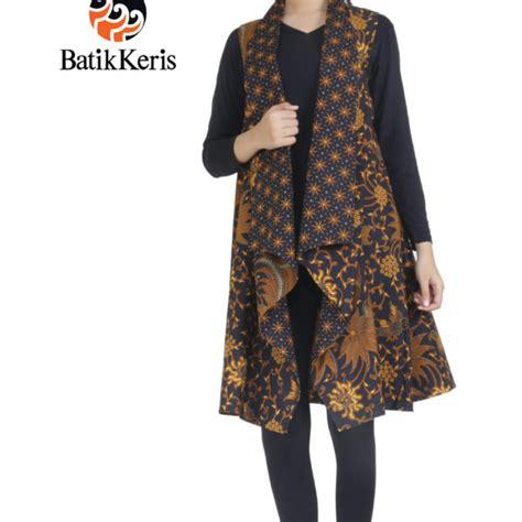 Batik Outer busanamuslim 10 contoh model outer batik tanpa lengan