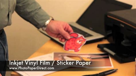 printing vinyl on inkjet inkjet vinyl film sticker paper by photo paper direct