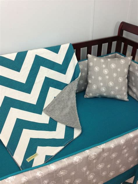 teal and grey baby bedding baby bedding crib bedding turquoise chevron and gray dandelion