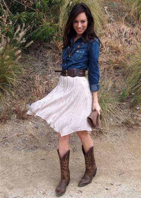 Wst 18465 White Flower Denim Skirt denim shirt into high waist skirt take the cowboy