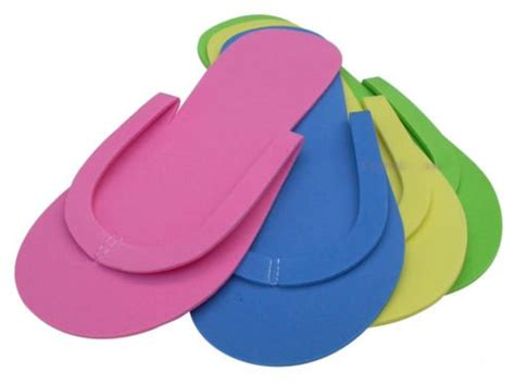 foam flip flop chair 2015 nail tool 4 colors disposable pedicure manicure