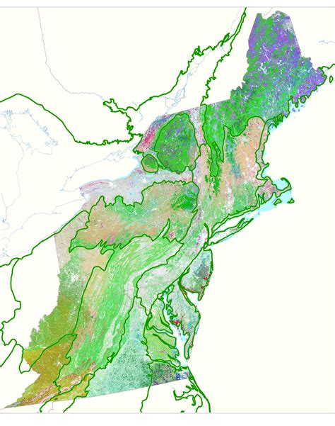 northeastern map creation of regional habitat cover maps application of