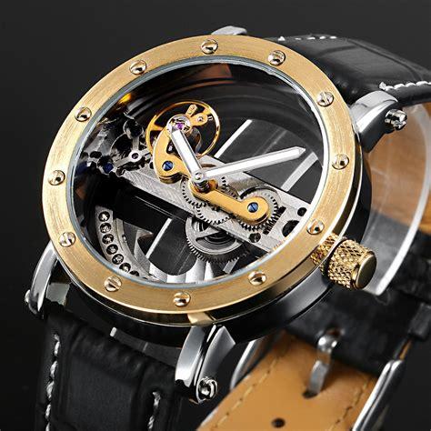 Jam Tangan Rolek Rantai Skeleton Transparant Automatic ess skeleton leather automatic mechanical wm422 black gold jakartanotebook