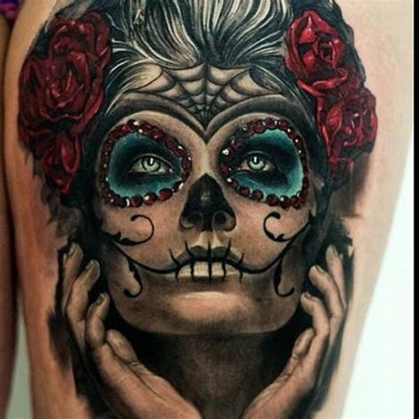 day of the dead face tattoo 60 day of the dead tattoos you will want to get asap