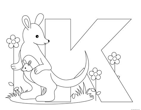 printable letters with animals printable animal alphabet letter k for kangaroo free