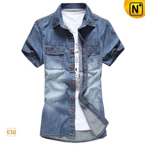 Button Denim Shirt by Sleeve Button Up Denim Shirt For Cw114102