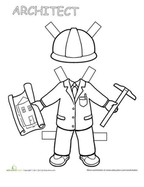 Career Day Coloring Pages 25 Great Worksheets To Celebrate Labor Day Education Com by Career Day Coloring Pages