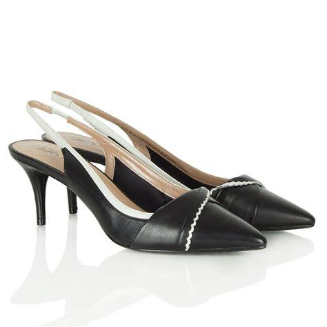 back shoes dkny black leather peggy sling back shoe