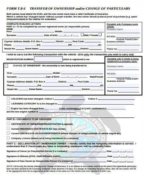 Document Transfer Of Business Ownership Receipt Template Word by Sle Transfer Of Ownership Forms 8 Free Documents In