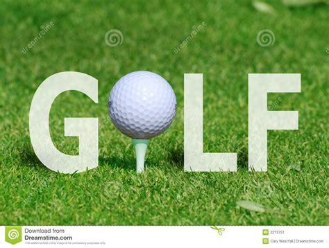 Word Swing Golf In Word Stock Image Image 2213751