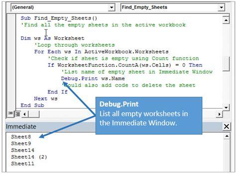 Vb Ribboni 5 ways to use the vba immediate window excel cus