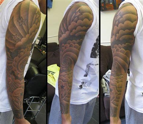 stars sleeve tattoo designs cloud tattoos for ideas and designs for guys