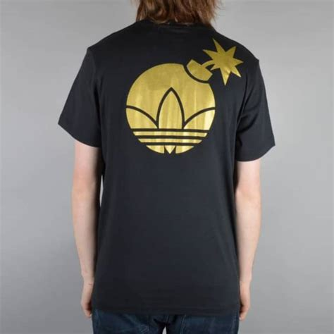 Tshirt Adidas Merah Zero X Store adidas skateboarding x the hundreds gold bomb skate t shirt black skate clothing from