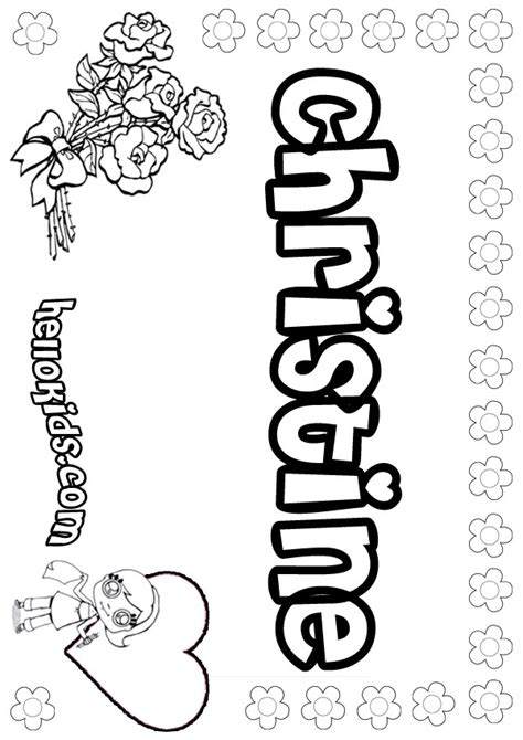 coloring pages of the name claire girls name coloring pages christine girly name to color