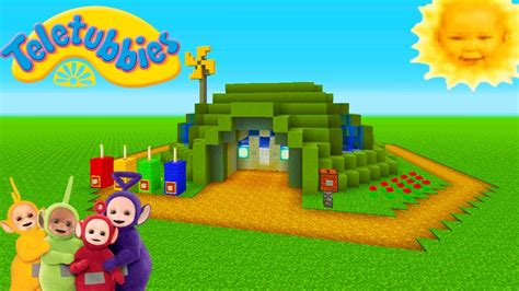 teletubbies house minecraft tutorial how to make the teletubbies house quot teletubbies quot youtube