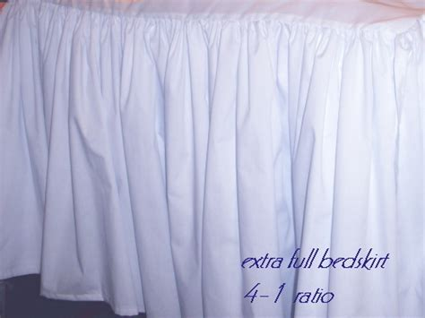 long bed skirts solid colored dustruffle regular or extra long drop bedskirts