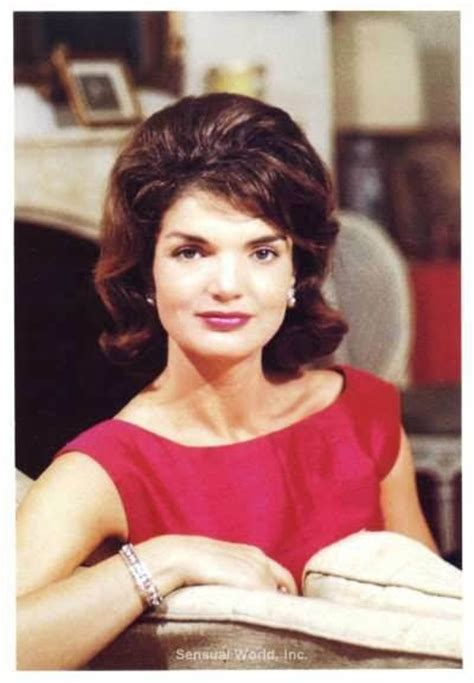 kennedy jacqueline jackie kennedy vintage stationary card color photo