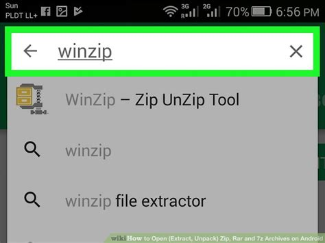 open rar on android how to open extract unpack zip rar and 7z archives on android