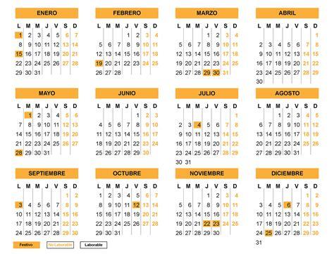 Calendario 2018 Catalunya Calendario Con Festivos 2018 En Espa 241 A Calendario Con