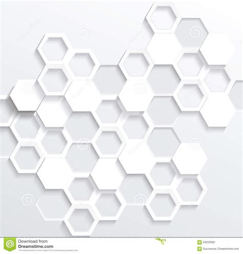 Hexagonal Abstract 3d Background Stock Hexagonal Abstract 3d Background Stock Illustration