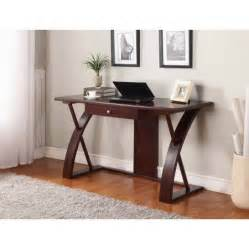 Roundhill Solid Wood Computer Desk Brown Roundhill Solid Wood Computer Desk Cherry Brown Walmart Com