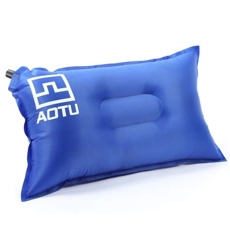self inflating cing pillow air bed cushion travel