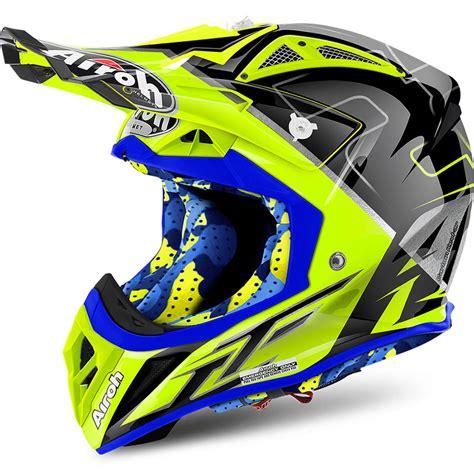 airoh motocross helmets uk airoh new mx 2017 aviator 2 2 le cairoli flo yellow blue