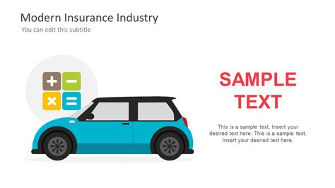ppt templates for insurance car insurance coverage calculation ppt slidemodel
