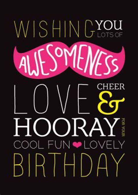 Cool Quotes For Birthday Trendy Kaartje Met Snor Met Engelse Typografie Vrolijke