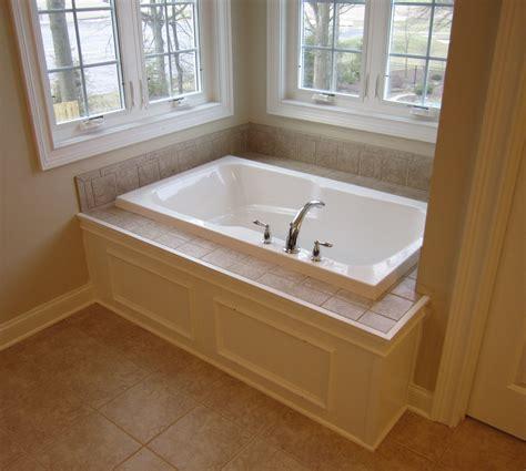 bathtubs ideas master bathtub custom paneled front with tile tub deck the nora marie avon lake
