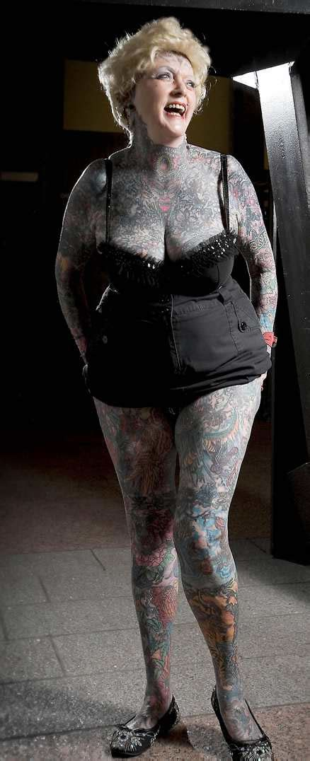 most tattooed person most tattooed