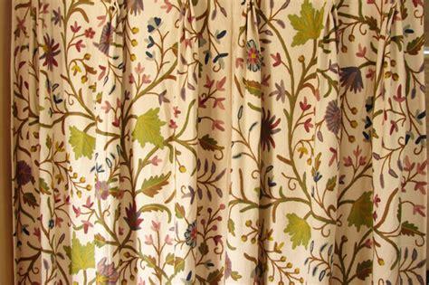 crewel fabric curtains crewel fabric curtain from zia enterprises india