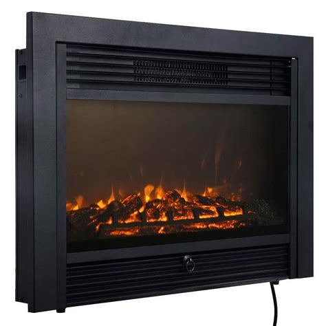 electric fireplace insert with heater 28 5 quot fireplace electric embedded insert heater glass view