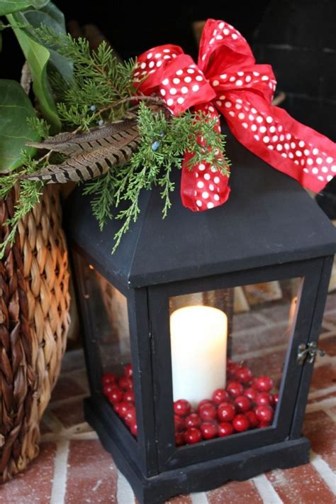 christmas lantern decoration ideas porch lighting