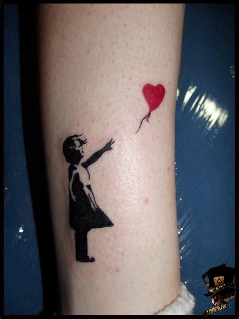 tattoo girl balloon banksy s girl with balloon by darkartscolective on deviantart