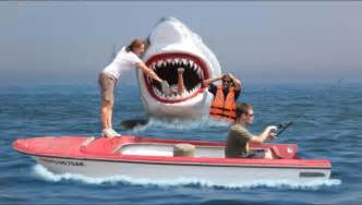 jaws head in the boat who needs a bigger boat geocache of the week official
