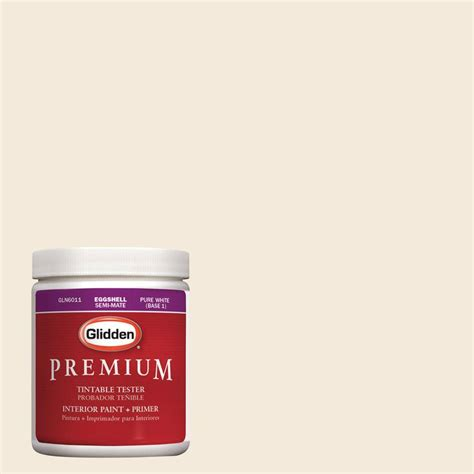 glidden premium 8 oz hdgo30 almond wisp interior paint tester hdgo30 08p the home depot