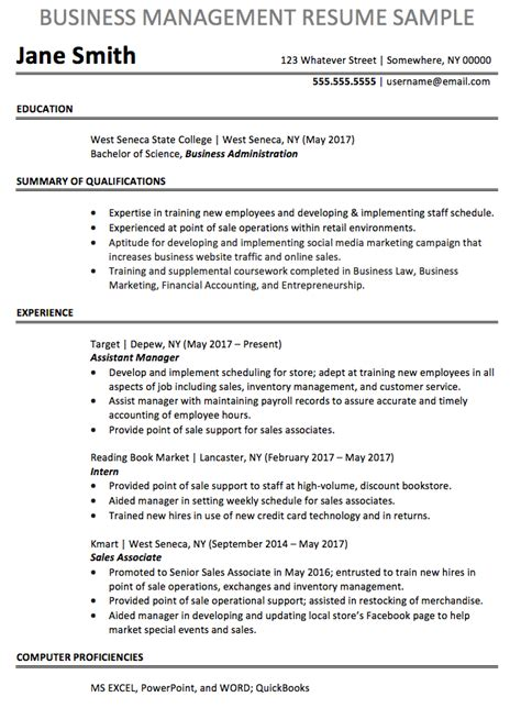 business resume sle chegg careermatch