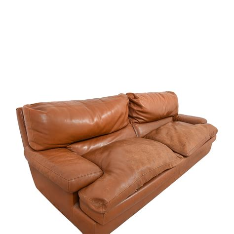 81 Off Roche Bobois Roche Bobois Burnt Orange Leather Burnt Orange Leather Sofa
