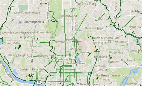 washington dc lanes map dc has few dedicated east west bike pathways greater