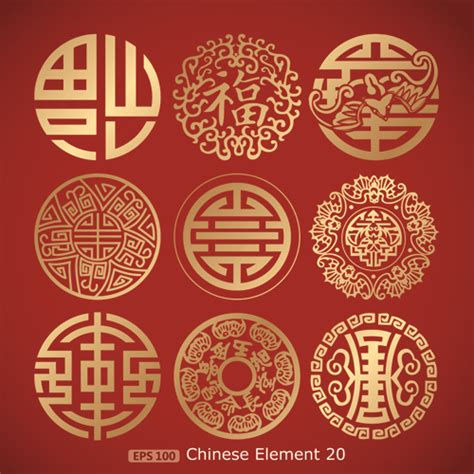 pattern design styles chinese pattern styles vector material 02 vector pattern