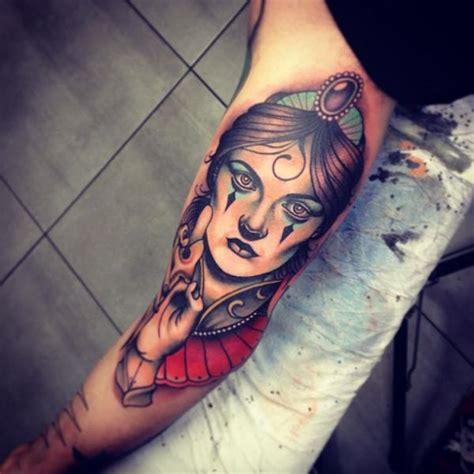 new school gypsy tattoo arm new school gypsy tattoo by dagger lark tattoo