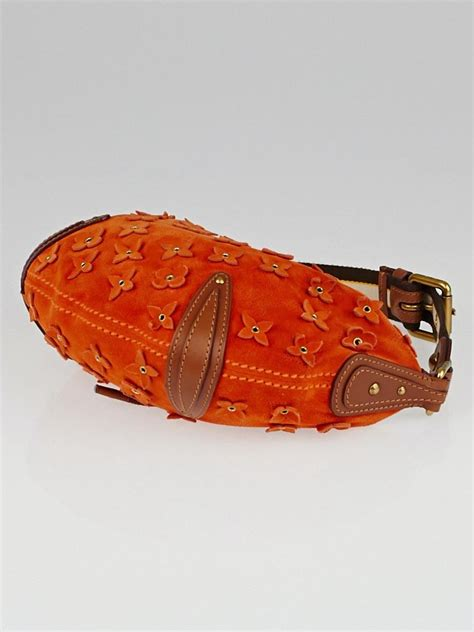 Louis Vuitton Onatah Pm by Louis Vuitton Limited Edition Orange Onatah Suede Fleurs