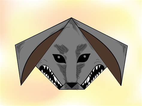 How To Make A Paper Wolf - how to make an origami wolf 11 steps with pictures